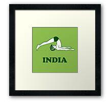 India - Halasana Yoga T-shirt Framed Print