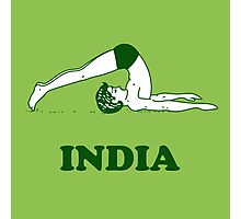 India - Halasana Yoga T-shirt Photographic Print