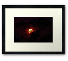 sun of fire Framed Print