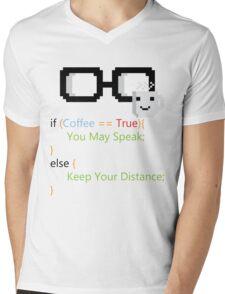 Coffee if loop Mens V-Neck T-Shirt