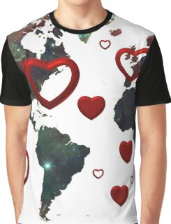 Map of love Graphic T-Shirt