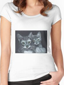 Wassat Women's Fitted Scoop T-Shirt