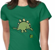 stegosaur Womens Fitted T-Shirt