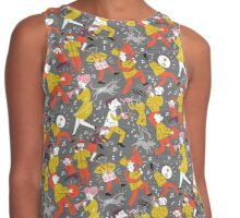 Mid Century Marching Band Parade Contrast Tank