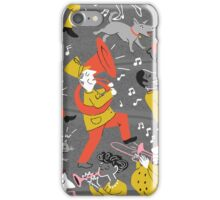 Mid Century Marching Band Parade iPhone Case/Skin