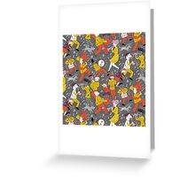 Mid Century Marching Band Parade Greeting Card