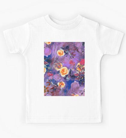 Flowers purple Kids Tee