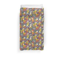 Mid Century Marching Band Parade Duvet Cover