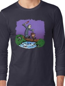 Freddy and Jason Parody mash up Long Sleeve T-Shirt