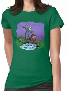 Freddy and Jason Parody mash up Womens Fitted T-Shirt