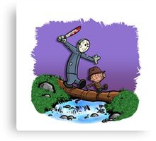 Freddy and Jason Parody mash up Canvas Print