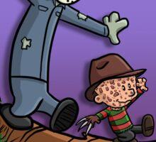 Freddy and Jason Parody mash up Sticker