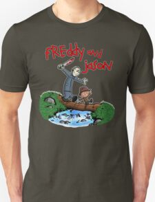 Freddy and Jason - Calvin and Hobbes Mash Up Unisex T-Shirt