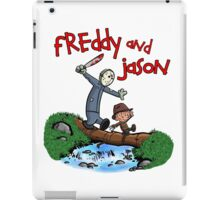 Freddy and Jason - Calvin and Hobbes Mash Up iPad Case/Skin
