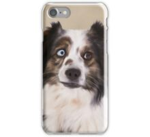 Australian Shepherd Dog Water color Oil Painting iPhone Case/Skin