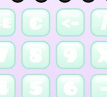 kawaii lavender calculator Sticker
