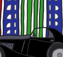 Cool Art Deco Car and Buildings Sticker