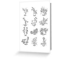 Floral Constellation - Ensemble Greeting Card