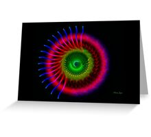 Radialis Construct Greeting Card