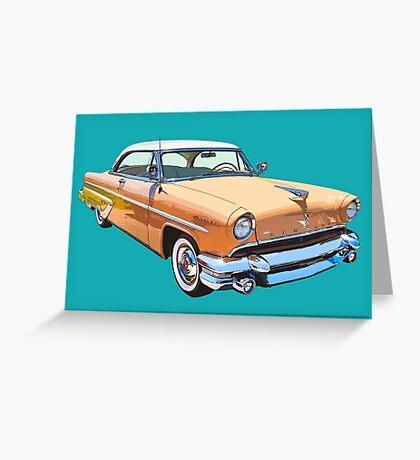 1955 Lincoln Capri Luxury Car Greeting Card