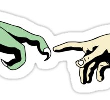 The Creation of T-Rex Sticker