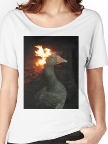 Fire Duck (goose on fire) Women's Relaxed Fit T-Shirt
