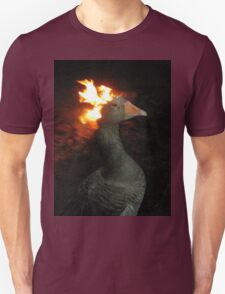 Fire Duck (goose on fire) Unisex T-Shirt