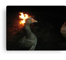 Fire Duck (goose on fire) Canvas Print