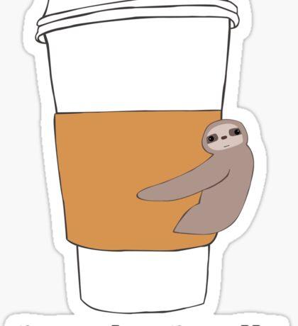Coffee Sloth Sticker