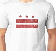 Washington DC Flag with Vintage Map Cut Out Unisex T-Shirt