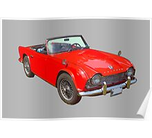 Triumph Tr4 Convertible Sports Car Poster