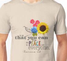 Romans 12:18 Unisex T-Shirt