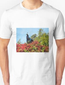 Peacock Amidst Autumn Colours Unisex T-Shirt