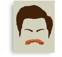 Ron Swanson Bacon Mustache  Canvas Print
