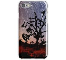 Star trails over Mojave National Preserve iPhone Case/Skin