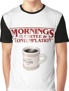 Stranger Things Coffee & Contemplation Graphic T-Shirt