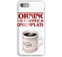 Stranger Things Coffee & Contemplation iPhone Case/Skin