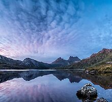 Dove Lake Boatshed Panorama by Mieke Boynton