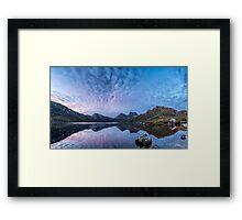 Dove Lake Boatshed Panorama Framed Print