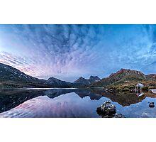 Dove Lake Boatshed Panorama Photographic Print