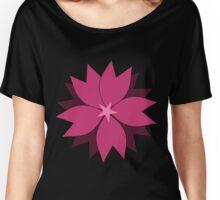Pink vector flower digital art Women's Relaxed Fit T-Shirt