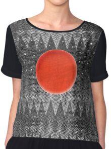 Bodacious Blood Moon Chiffon Top