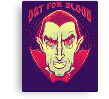 Classic Halloween: Dracula the Vampire Canvas Print
