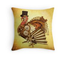 Steampunk Turkey Throw Pillow