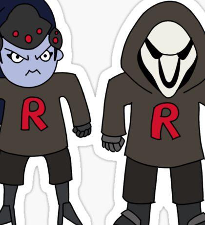Rocket Grumps WIDOWMAKER & REAPER want to fight! Sticker