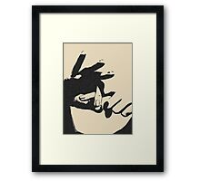 Wanna play some naughty game? Framed Print