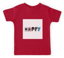 Monster happy,monster letters,monster,happy,fun,upbeat,modern,trendy,typography.cool text Kids Tee