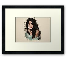 Watercolor lady Framed Print