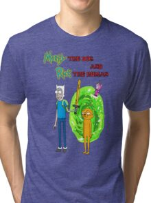 Morty the dog and Rick the human Tri-blend T-Shirt