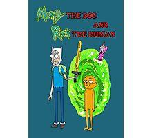 Morty the dog and Rick the human Photographic Print
